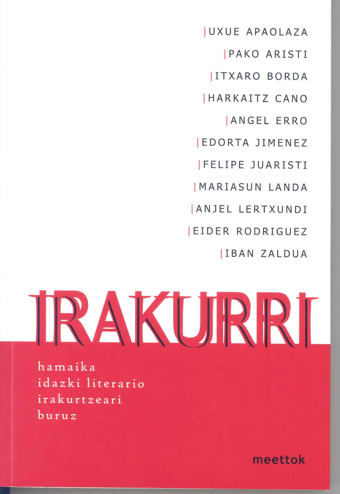 Portada del libro tiutlado Irakurri leer