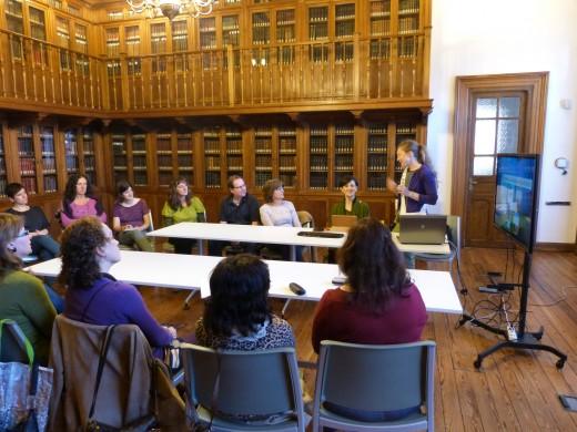 Kathya Shhkylar en la Biblioteca Duque de Mandas